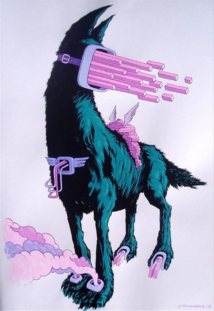 http://www.juxtapoz.com/images/stories/4W.jpg #illustration #dog