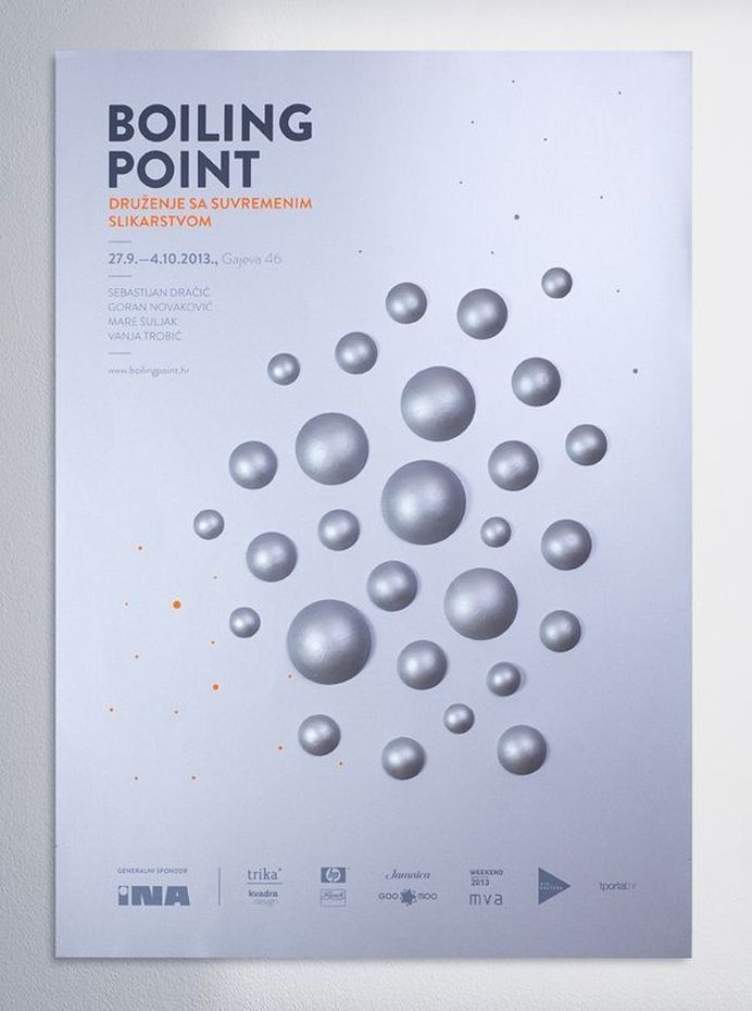 Boiling Point by Mireldy , via Behance #silver #craft #point #poster #boiling #3d
