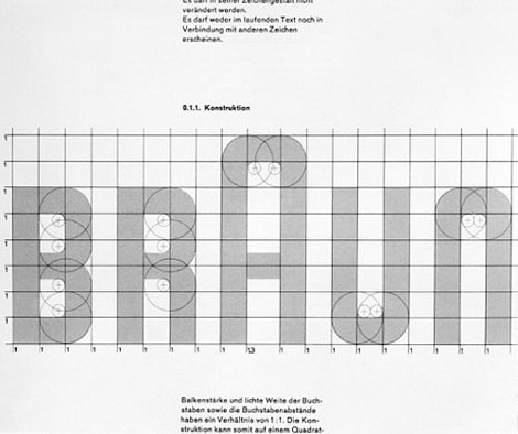 Braun logo dissected at iainclaridge.net #logo #braun #process