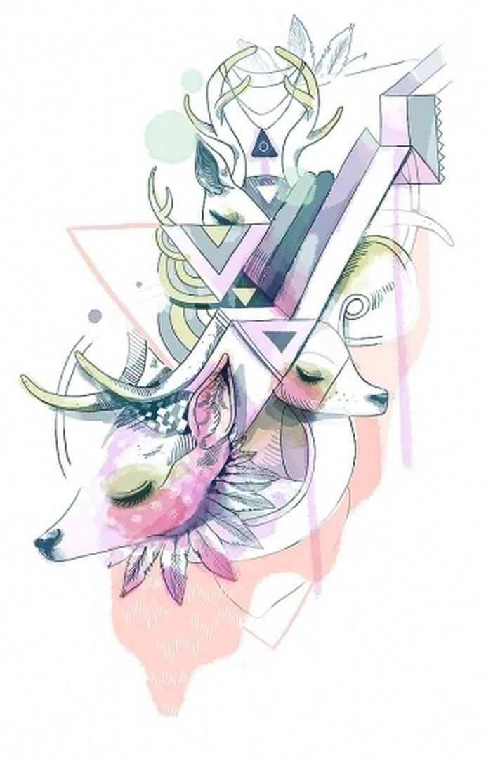 All sizes | Untitled | Flickr - Photo Sharing! #illustration #design #deer #sonmisonmi