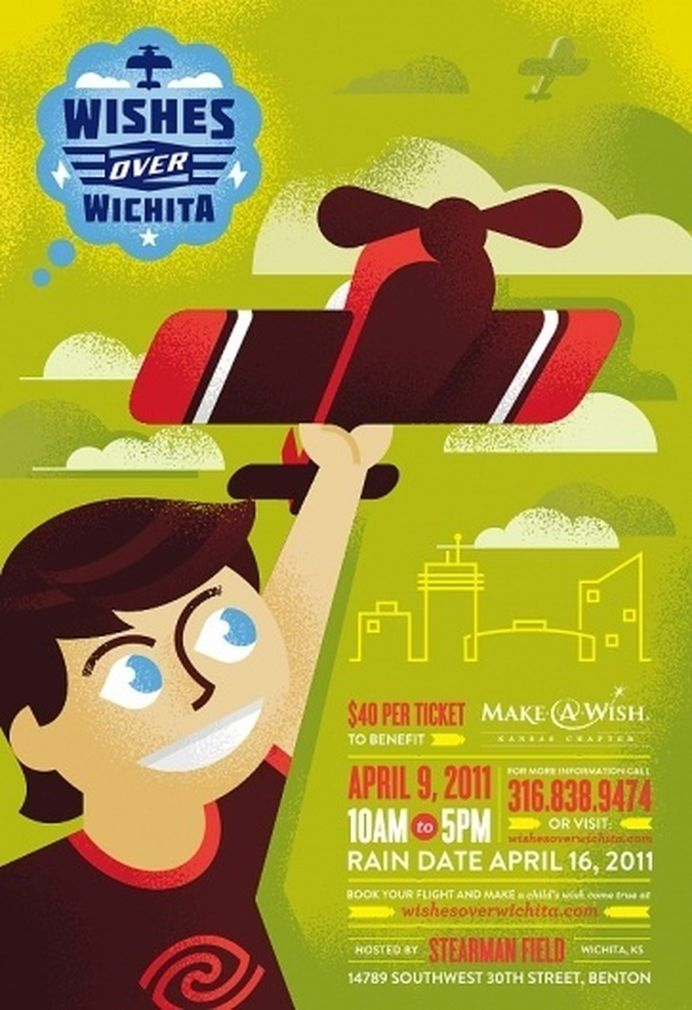 All sizes | Wishes over Wichita Logo & Poster | Flickr - Photo Sharing! #luke #illustration #poster #logo #bott