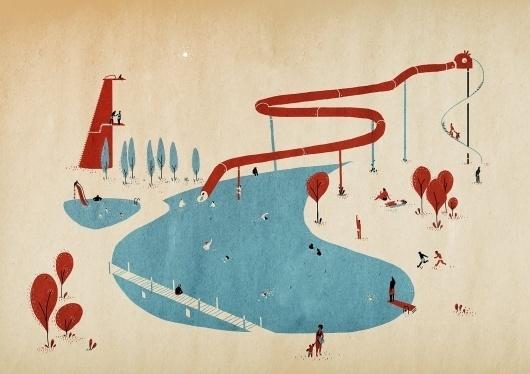piscine.jpg (JPEG Image, 1600×1131 pixels) - Scaled (58%) #tom #illustration #haugomat