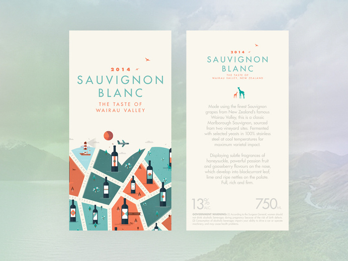 For the love of wine // Sauvignon Blanc #cityscape #city #illustrator #wine #texture #map #label #illustration #vintage #poster #animals #logo