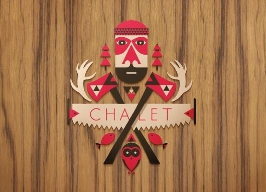 Target Chalet : Winter X Games 15 - Aaron Melander Design #logo #badge #symbol