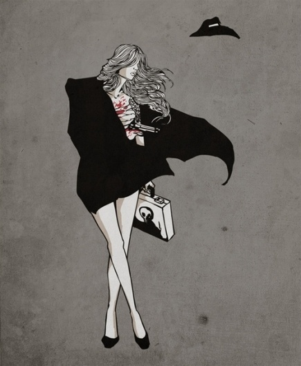 Loveless - Society6 #women #gun