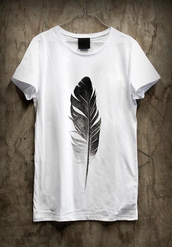 Feather t-shirt design #printing #design #graphic #shirts