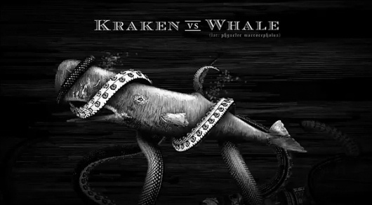 Kraken Rum Illustrated Animations... on the Behance Network #whale #motion #illustration #sea #monster #graphics #rum #kraken