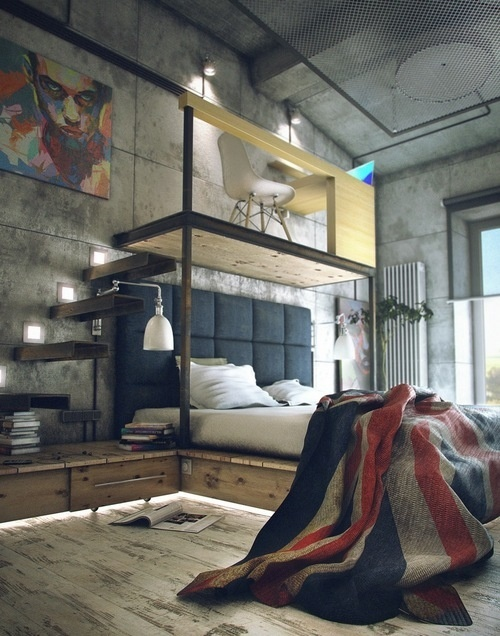 Brief / Relief #loft #bedroom