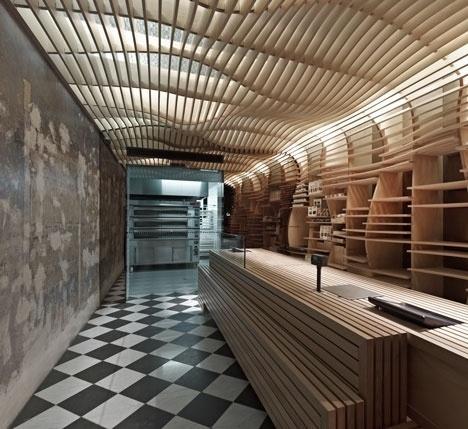 Dezeen » Blog Archive » Baker D Chirico by March Studio #interior #bakery #design #wood #melbourne