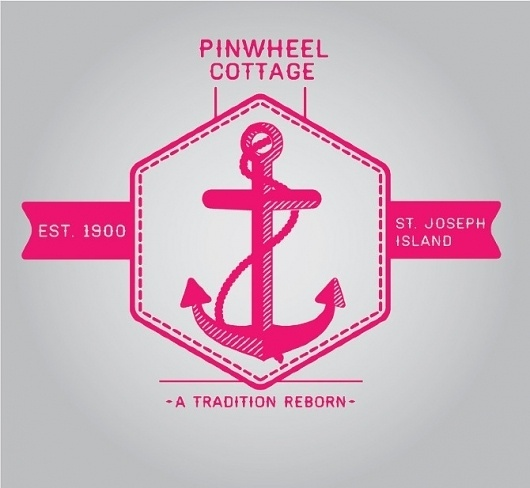 Pinwheel Cottage - Noah Mooney Design #logo #anchor #branding