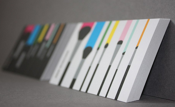 Colorburned | 29 Exciting New Business Card Themes #target #brushes #personal #cards