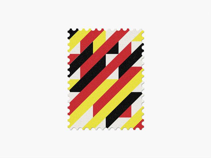 Belgium #stamp #graphic #maan #geometric #illustration #minimal #2014 #worldcup #brazil