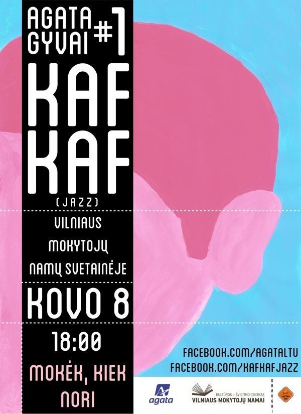 Kaf Kaf Gig Poster on Behance #music #illustration #pink #poster