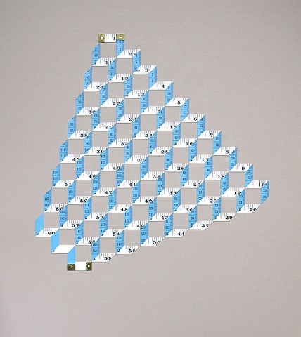 Metric System(blue and white pyramid) #patterns