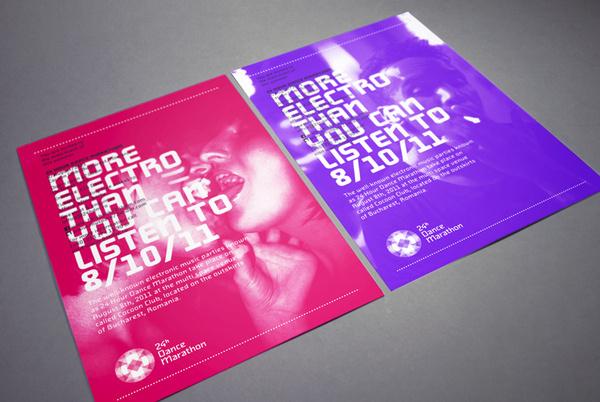 24h Dance Marahton on Behance #poster #edm #colorful #show