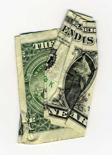 cash rules everything around me : Dan Tague #text #money #art