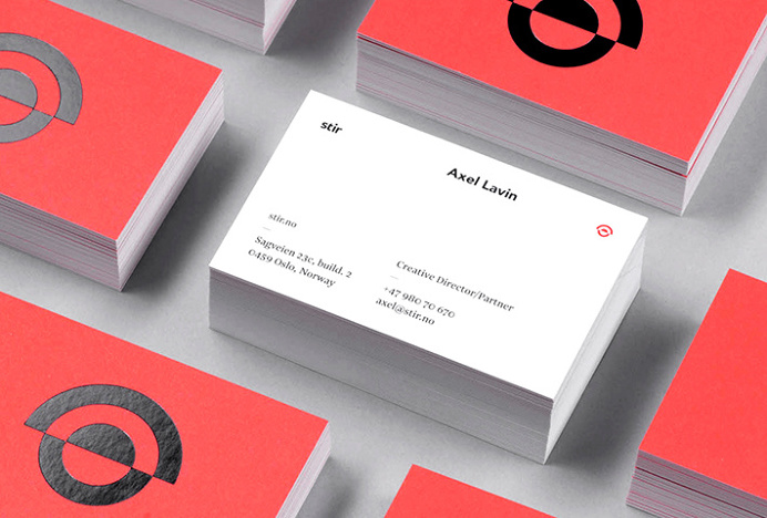 Stir by Bielke+Yang #brand design #business card