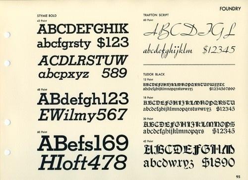 Daily Type Specimen | Stymie, Trafton, and Tudor. #type #specimen #typography