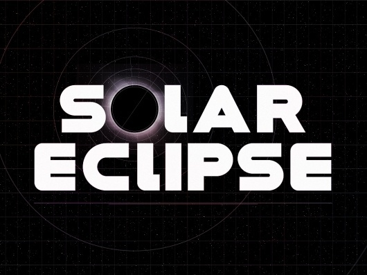 The Phraseology Project - Solar Eclipse #inspiration #lettering #design #space #photoshop #phraseology #type #typography