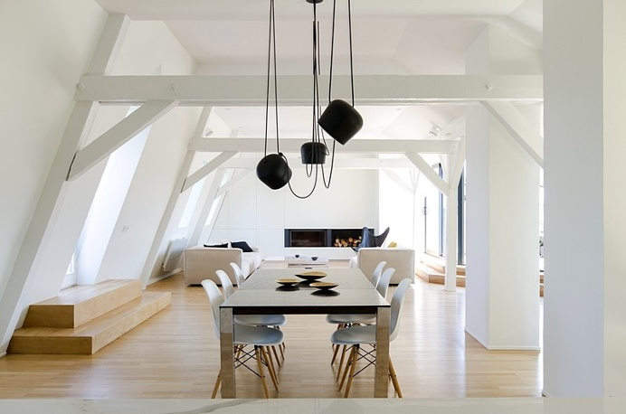 Renovation of a Two Story Attic Apartment in Strasbourg / f+f architectes