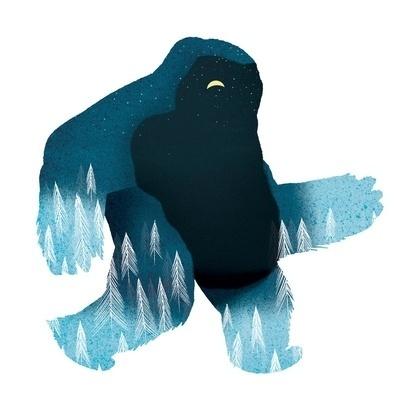 Yeti at Night Art Print by Ryan Snook | Society6 #illustration #character