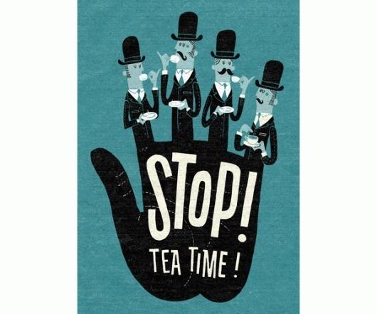 Eight Hour Day » Blog #type #illustration #time #tea