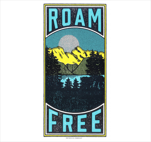 Roam Free by Print Mafia #roam #nature #free #mountains #forest #lake #poster #print #wilderness #printmafia