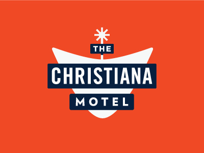 The Christiana Motel Logo #logo #branding #identity