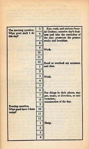 Benjamin Franklin's daily schedule | Flickr - Photo Sharing! #franklin #schedule #benjamin #daily