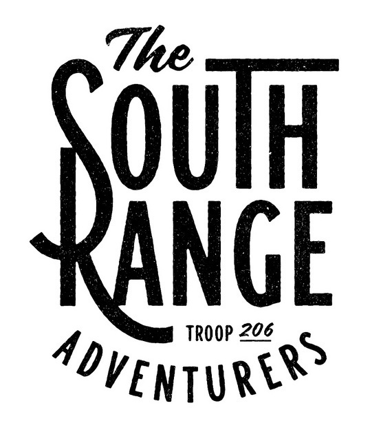 The south Range by Simon Walker #lettering #bw #typography