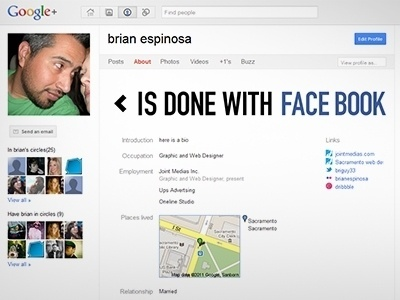 Dribbble - Gplus profile by Brian Espinosa #facebook #googleplus #google