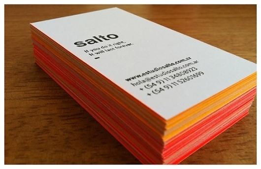 Tarjetas SALTO on the Behance Network #tarjetaspersonales #letterpress #stationary