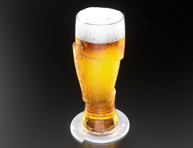 Sliced Cold Beer Glasses #tech #flow #gadget #gift #ideas #cool