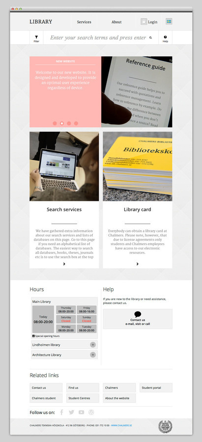 Chalmers Library #website #layout #design #web