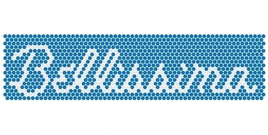 Concrete Design Communications #typography #type #white #blue #grey #font #dots