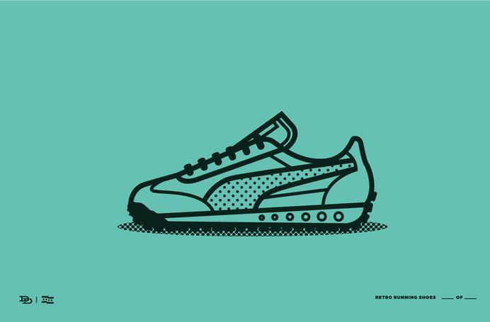 shoes3.jpg #line #shoes #stroke #retro #color