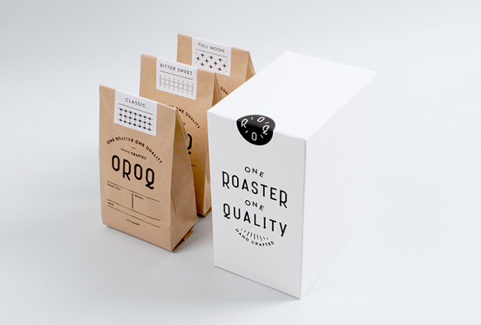 One Roaster One Quality by Plat #packaging #box #typography #bag