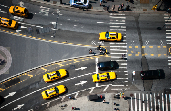 new york yellow newyork #contrast #new york #photography #yellow #lines #top #taxi #birds eye view
