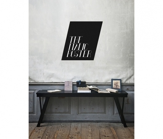 The Italic Poster - Grand National Studio #interior #italic #grand #studio #poster #type #national #typography