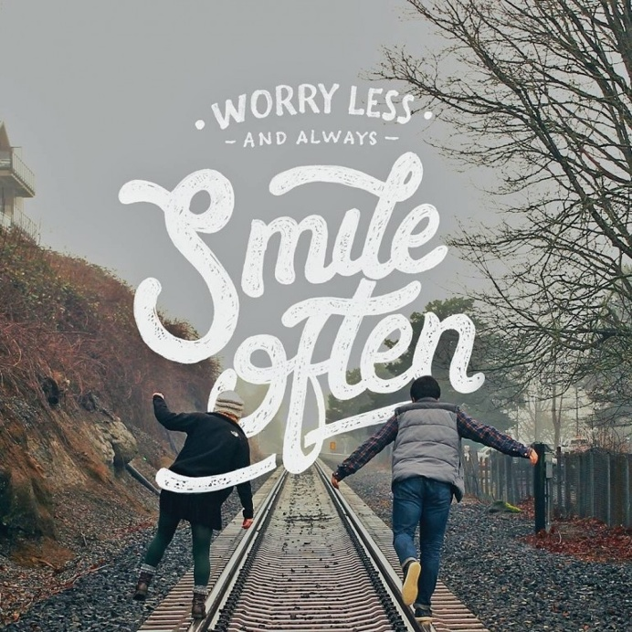 Worry Less and Always Smile Often by dimazfakhr