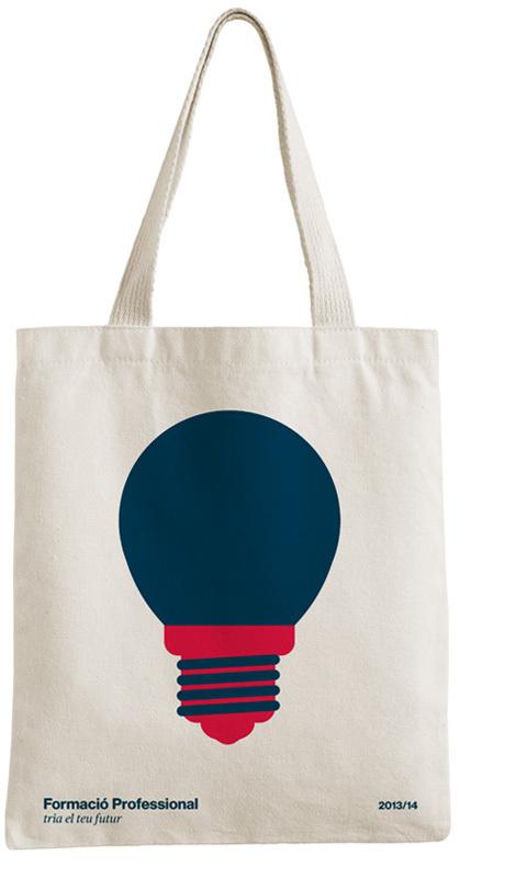 Professional Education Campaign, Terrassa 2013 #bulb #fp #layout #design #totebag #illustrations #formacioprofessional #education #identity #txellgracia