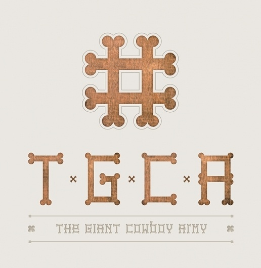 FONTS of CHAOS - The Giant Cowboy Army #fonts #font #typographism #typo #typography