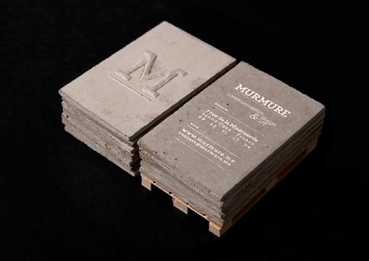 Concrete business cards | 123 Inspiration #murmur #design #studio #french