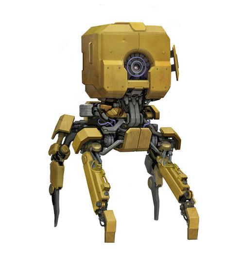 Mech Blog #4-leg #yellow #robot