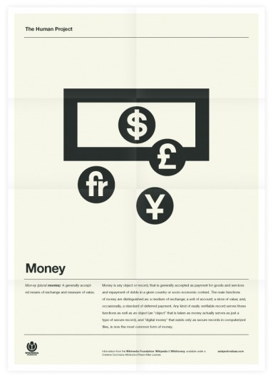 The Human Project (Money) Poster #inspiration #creative #design #graphic #grid #system #poster #typography