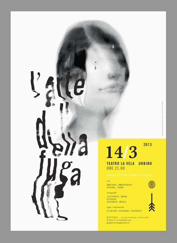 Theatre Poster on Behance #type #poster