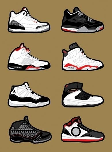 Harsky #jordan #nike #sneakers #illustration