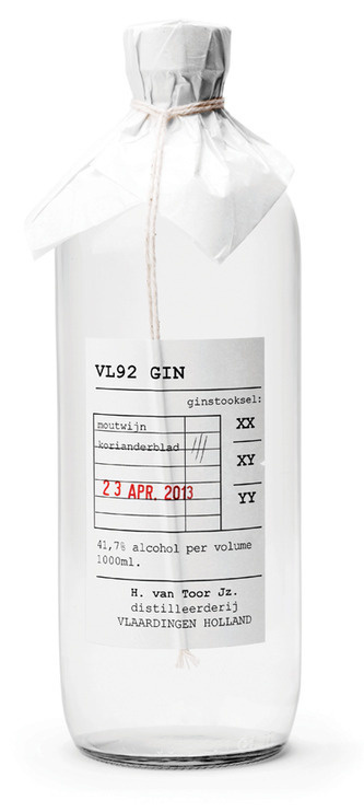 VL92 Gin #packaging #gin #alcohol #vl92