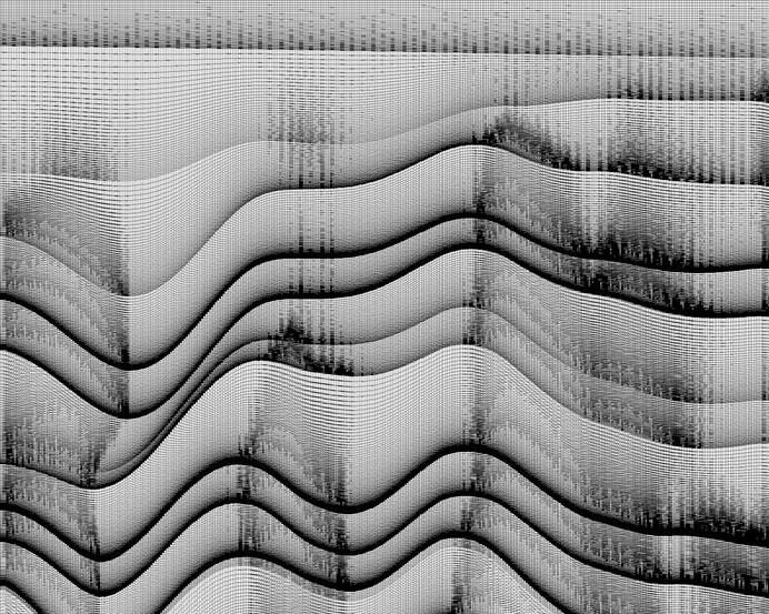 random noise flow #white #visualization #black