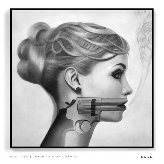 Jason Pearson | Paintings #white #woman #sex #gun #black #female #illustration #femme #and #drawing #bullet #sketch #fatale